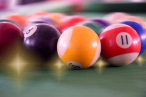 multiples boules de jeu numérotées
