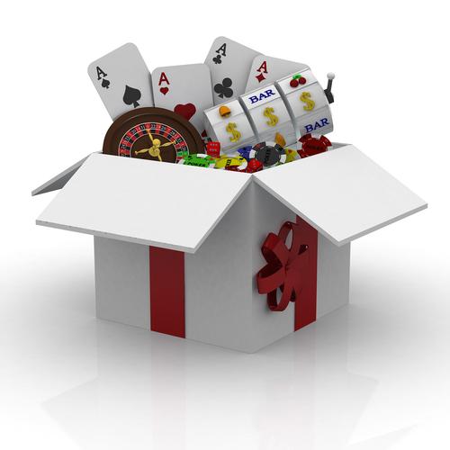 concept d'une boite contenant divers jeux de casino