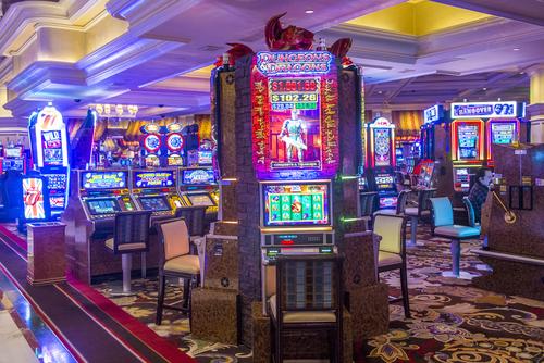 intérieur d'un casino de las vegas