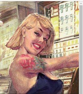 joueuse blonde joka casino