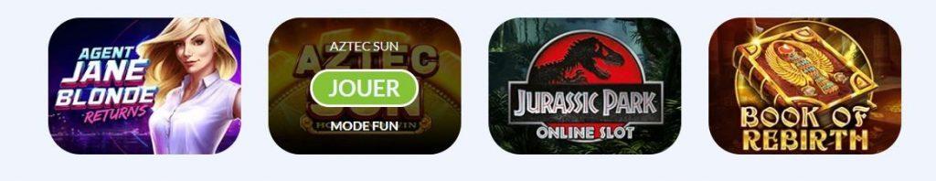 4 jeux proposes de sa ludotheque