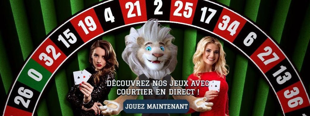 courtier en direct sur White Lion casino