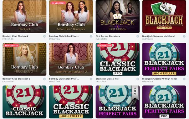 jeux blackjack sur bitcasino.io