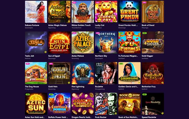jeux varies sur Bao Casino