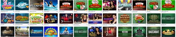 multiples jeux de Bitcasino