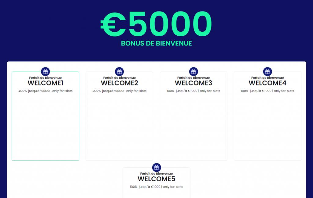 5000 euros bonus de bienvenue welcome casinobtc.bet