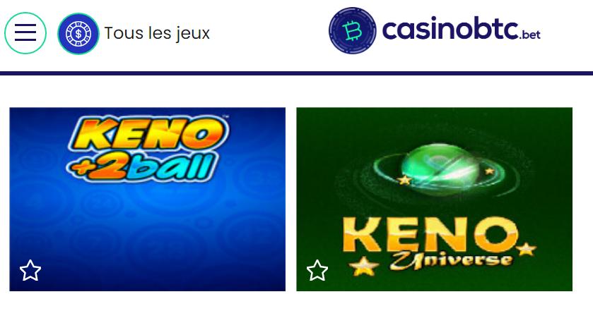 jeu keno sur casinobtc.bet