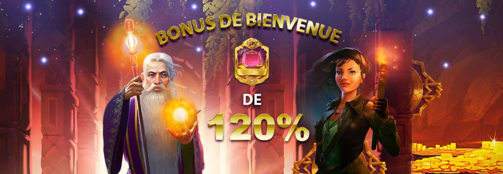 Jack21 casino bonus de bienvenue de 120%