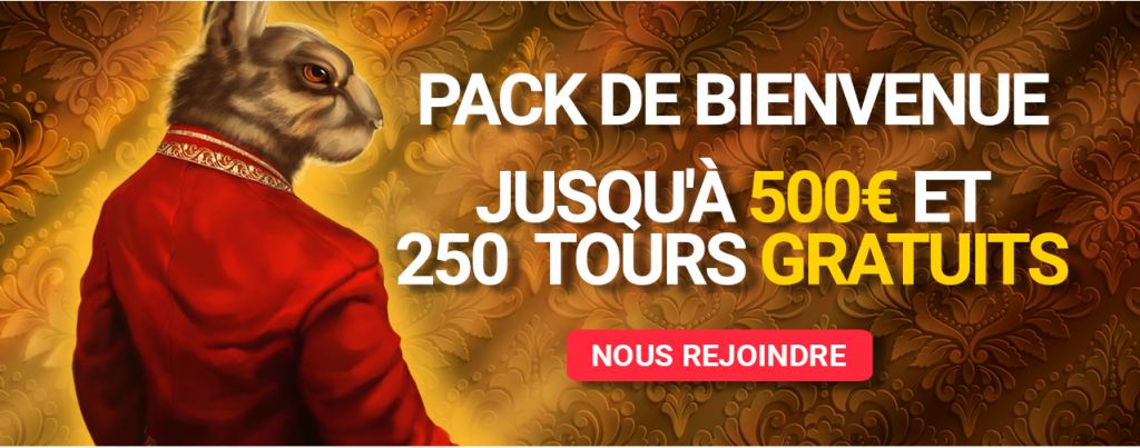 Royal Rabbit Casino Pack de Bienvenue