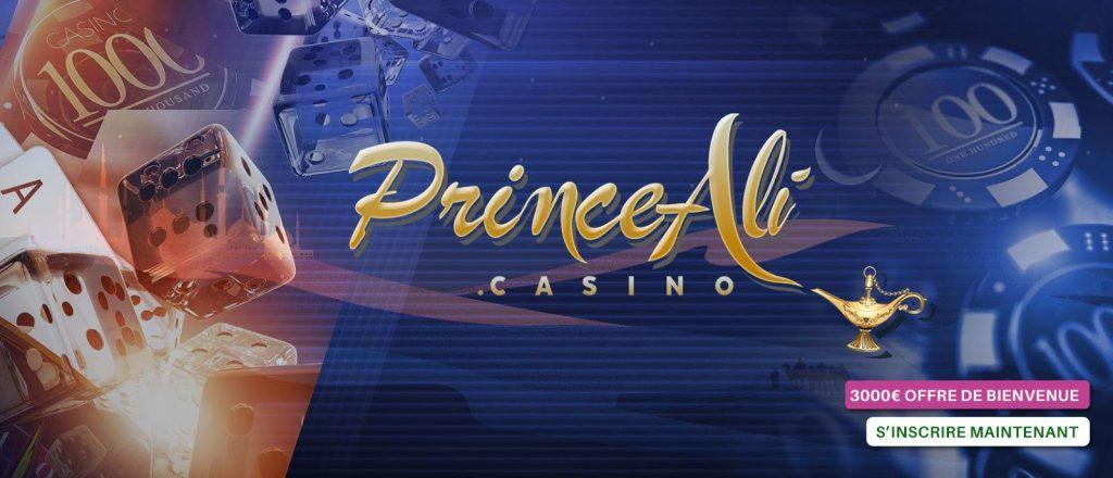 Prince Ali Casino 3000 euros offres de bienvenue