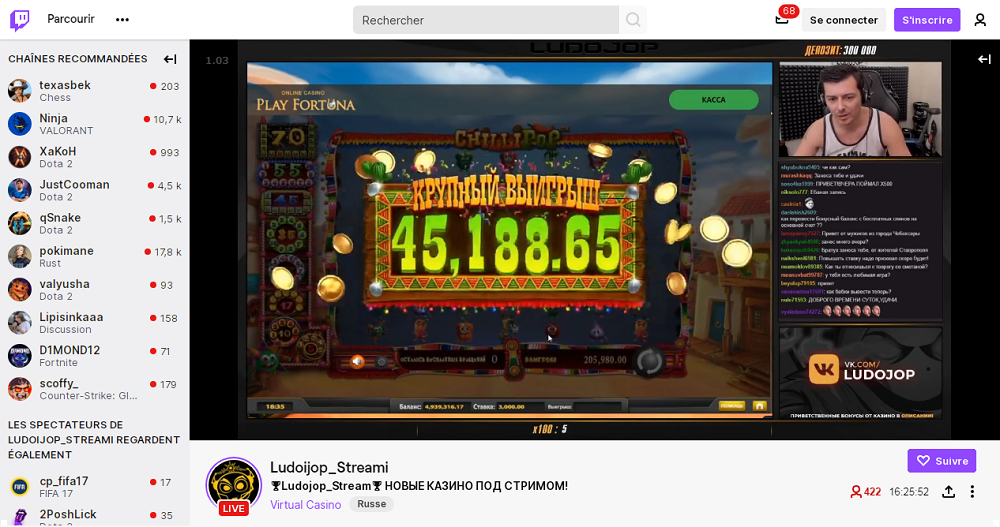 casino en live et en streaming