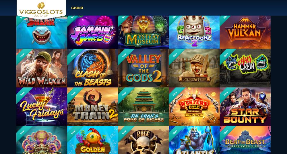 sélection de jeux casino ViggoSlots