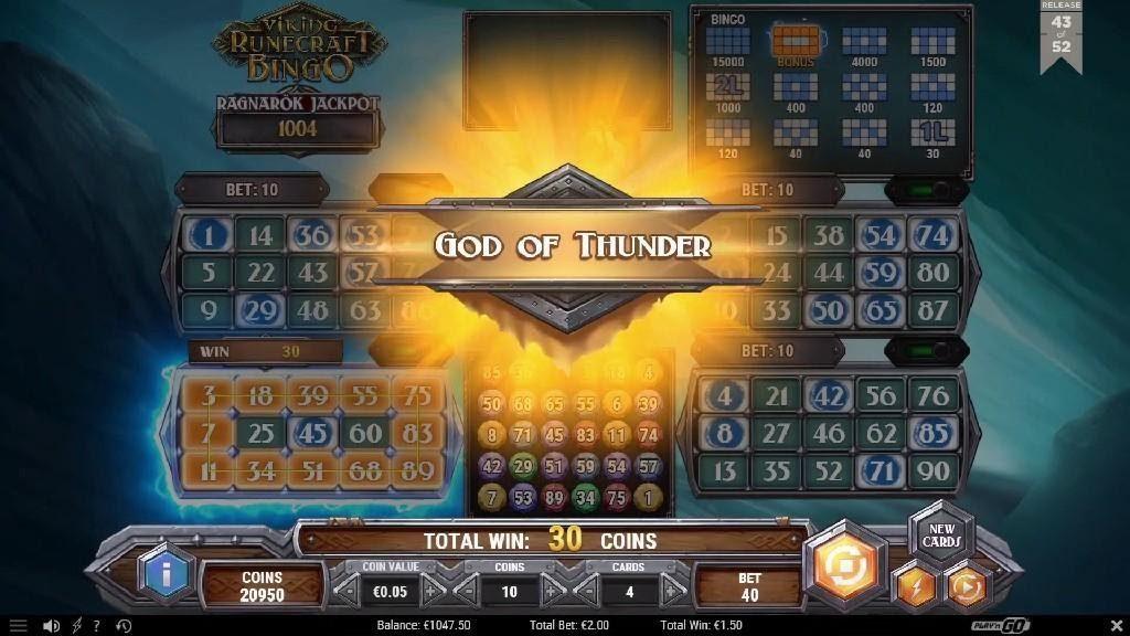 15 numeros Viking Runecraft Bingo