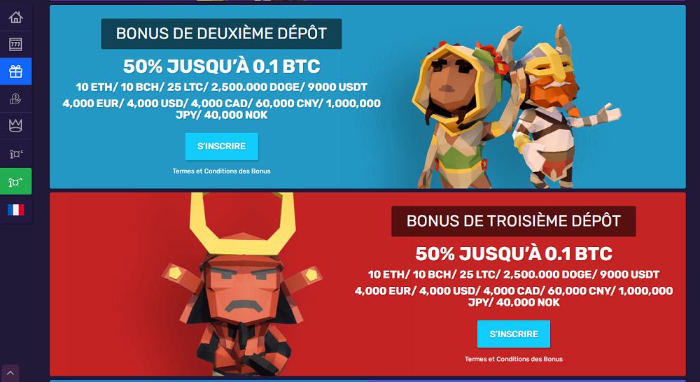 bonus dépôts en crypto monnaie sur bitcoin casino