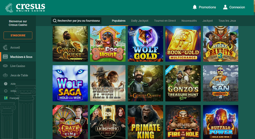 Drop & Wins jeux disponibles