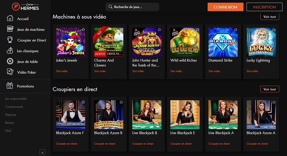 Casino Hermes multiplie les promotions
