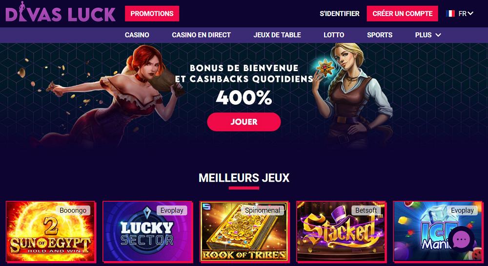 interface divas luck casino