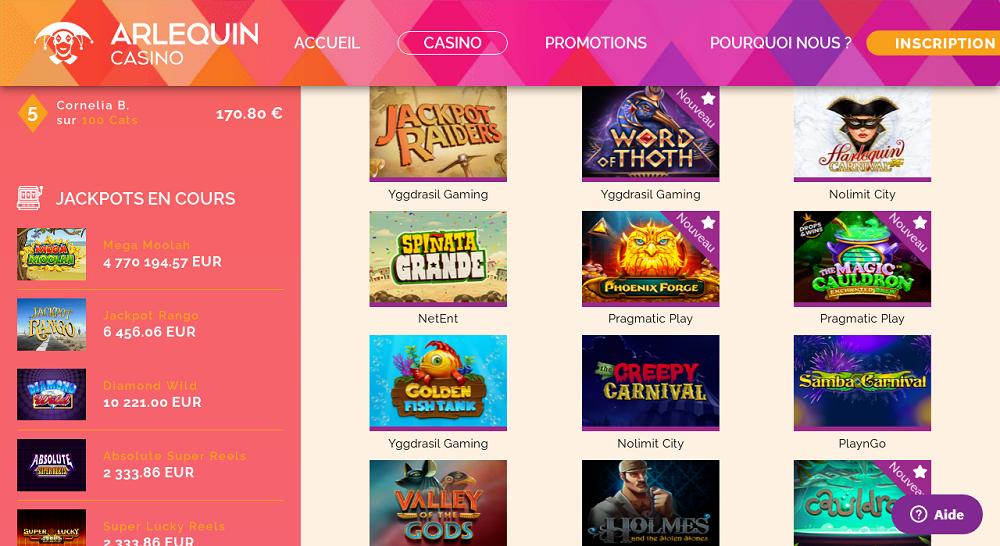 ludotheque arlequin casino