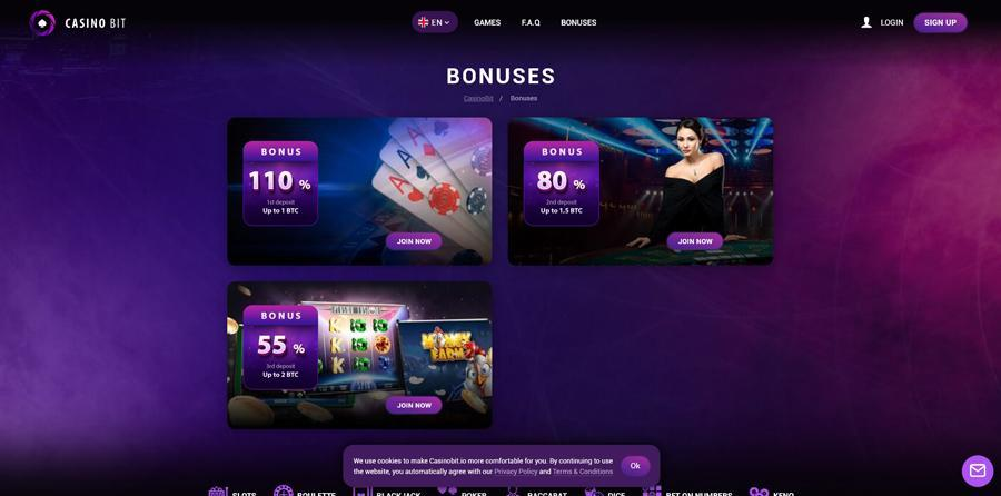 Bonus sur Casinobit