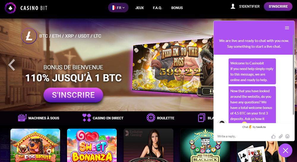 support chat Casinobit