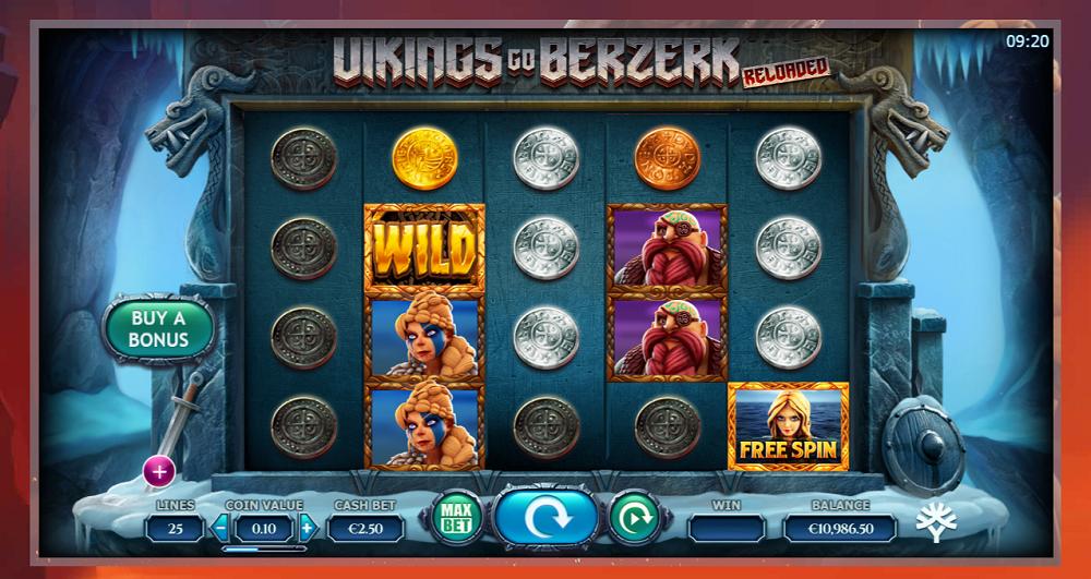Vikings Go Berzerk Reloaded jeu machine a sous