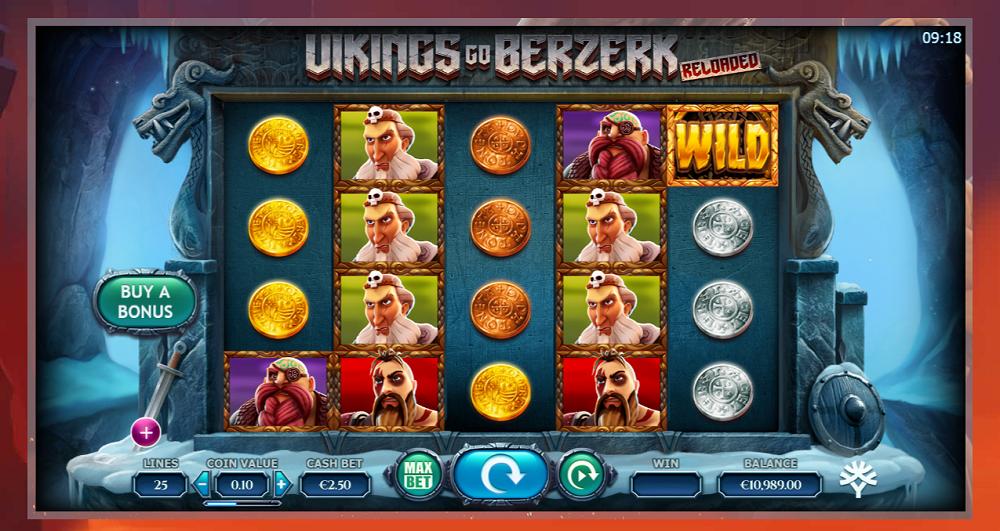 Vikings Go Berzerk Reloaded multiplicateur 25000